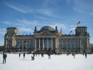 Reichstag Berlin in Winter