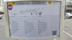 BVG Bus 100 schedule