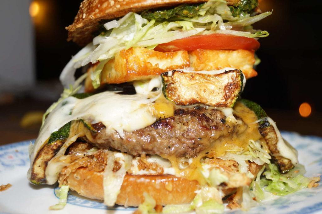 Closeup Burger at Burgeramt